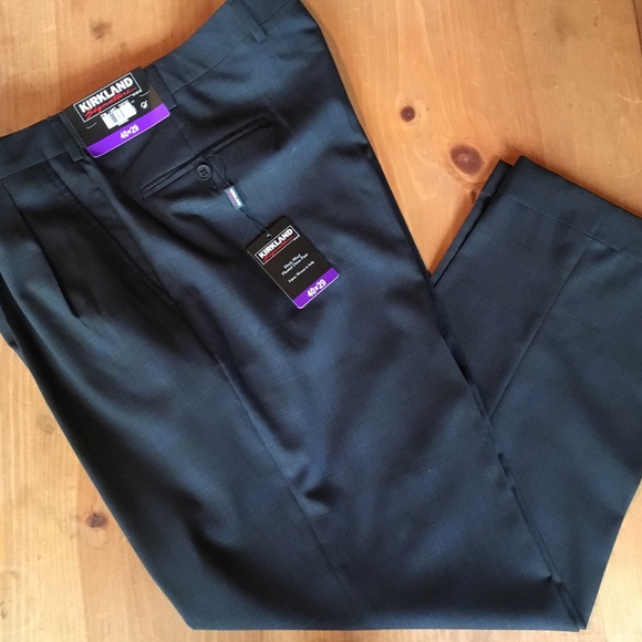 05ed132e1f5b Pants | Kirkland Signature Mens Wool Pleated Dress | Poshmark